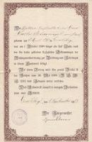Urkunde von 1908
