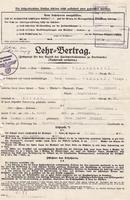 Lehrvertrag von 1940